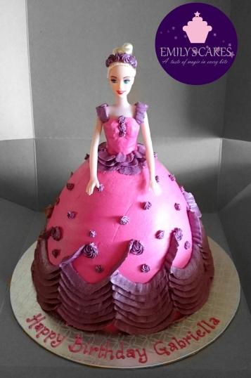 Barbie Doll cake PInk&Purple