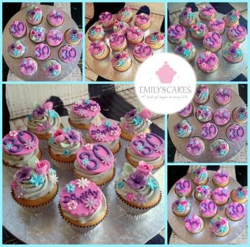 Pink.Blue.Purple Cupcakes